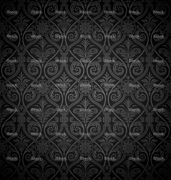 Seamless gothic damask