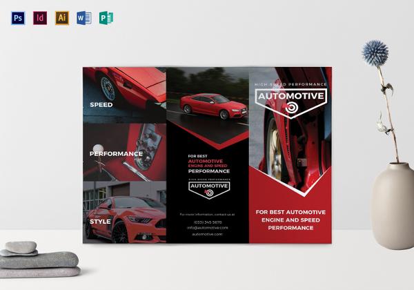 Sporty automotive Brochure Template