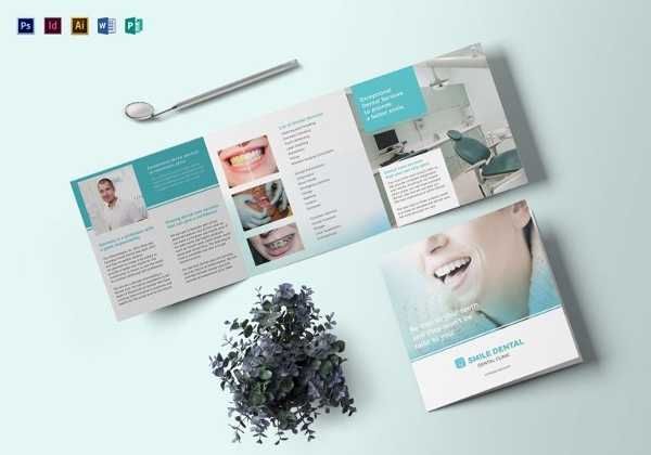 Square Dentist Brochure Template