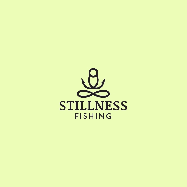 Stillness Fishing Man Logo