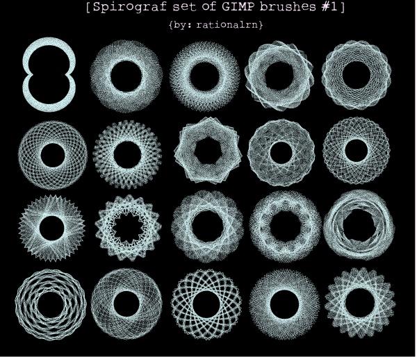 Stunning Circular Spirograph Brushes