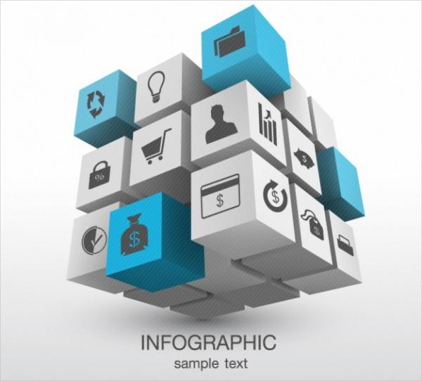 Tridimensional Cubic Infographic Presentation