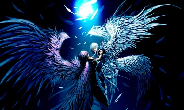 Two Angels Love Anime Wallpaper