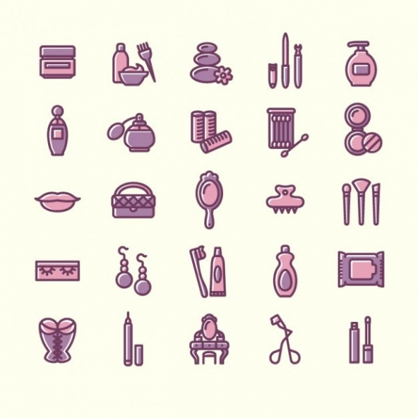 Variety of beauty icons