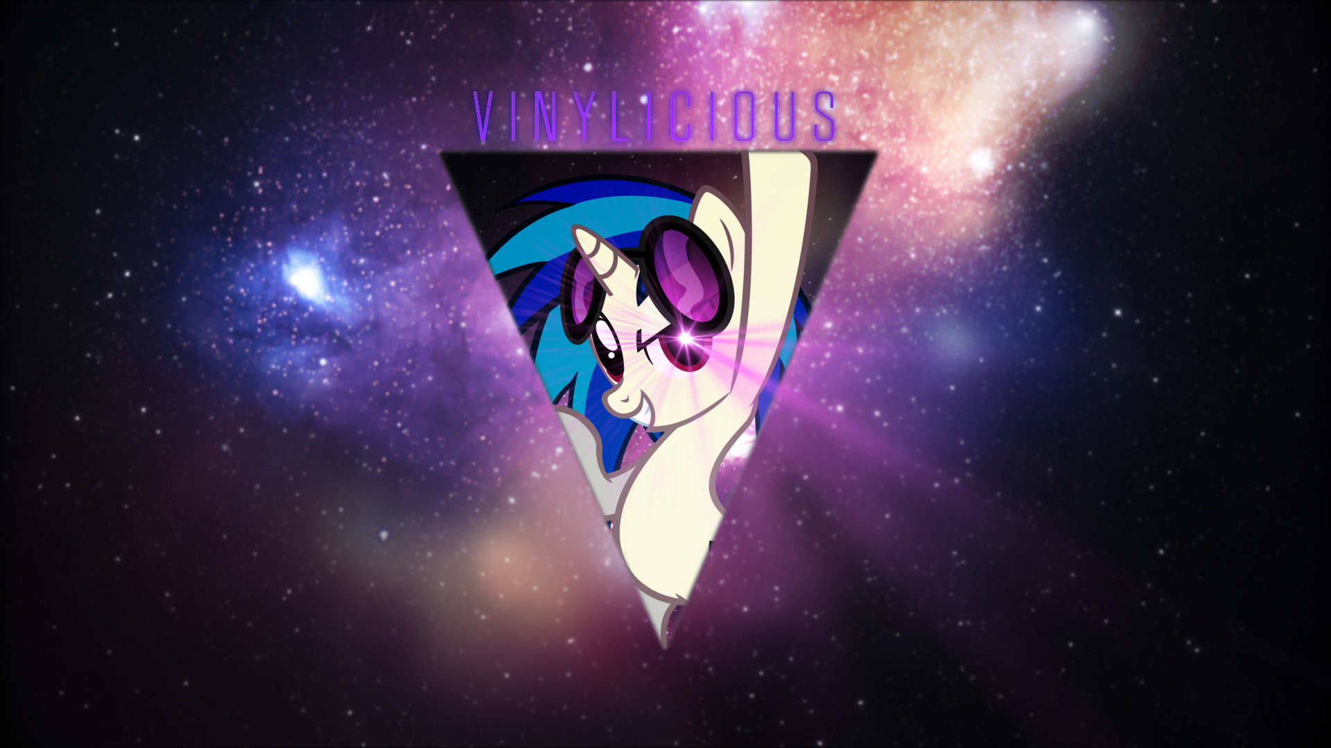 Vinyl Scratch Hipster Background