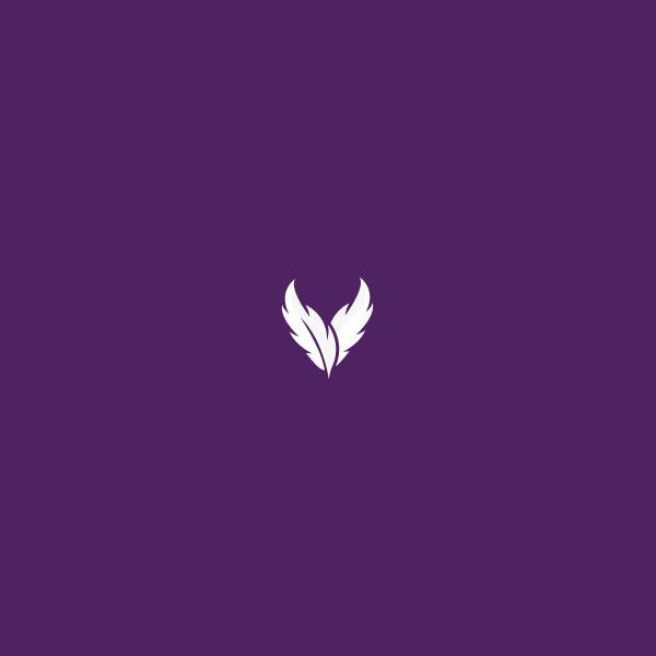 violet pen letter logo