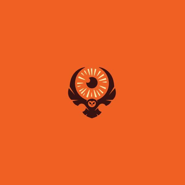 animal beam eyeball feather logo