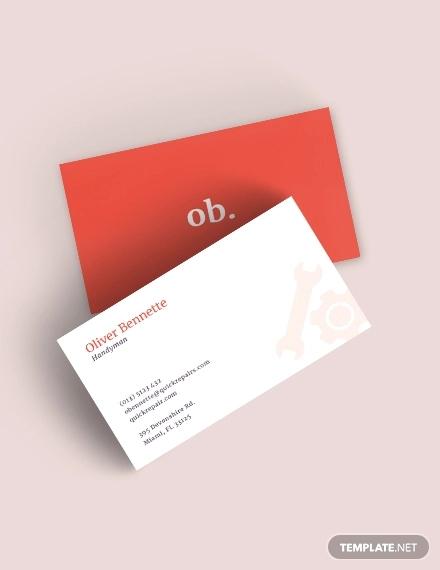 creative handyman business card