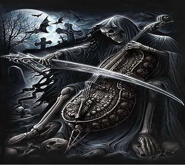 skeleton musical Gothic Wallpaper
