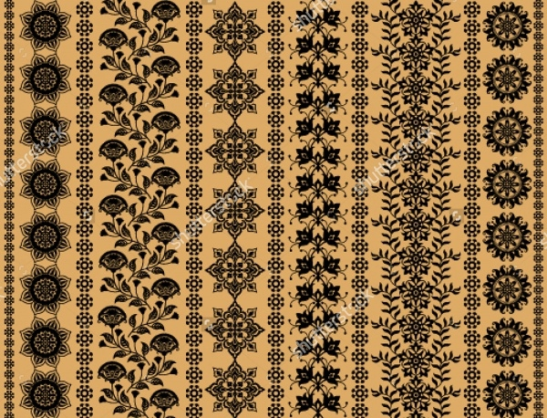 vertical floral decorative patterns