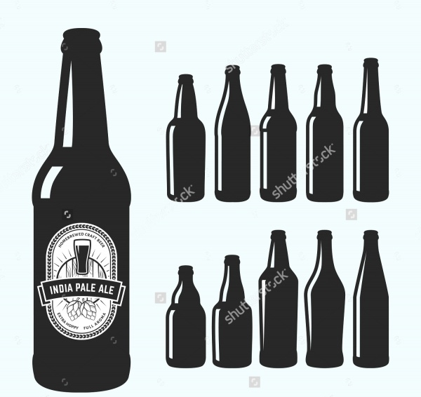 10 various craft beer bottles