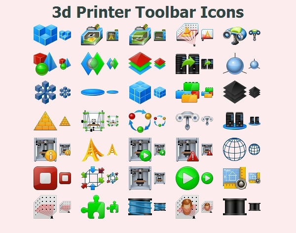 3d Printer Toolbar Icons