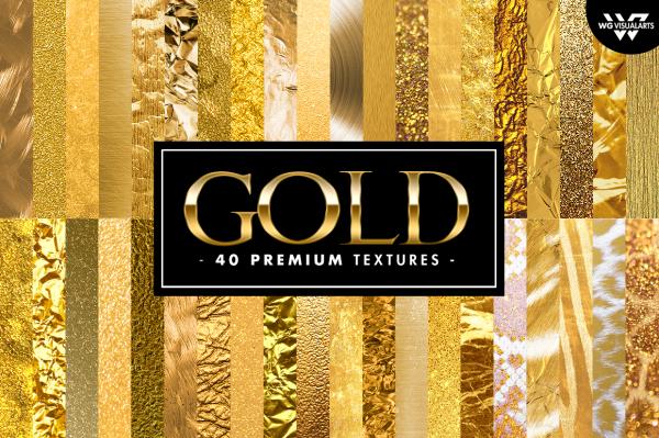 40 Premium GOLD Textures