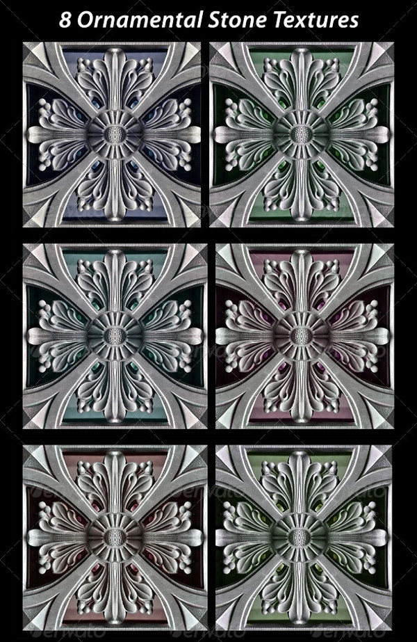 8 Ornamental Stones Textures