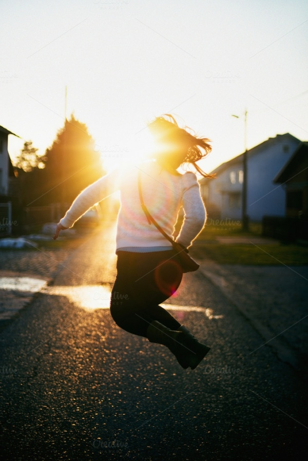 A jump Sunset Photography
