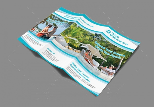 A4 Travel Tri Fold Brochure