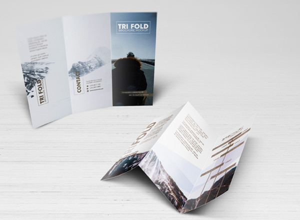 A5 Trifold Brochure Mockups