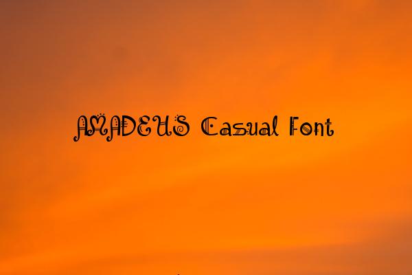 AMADEUS Casual Font
