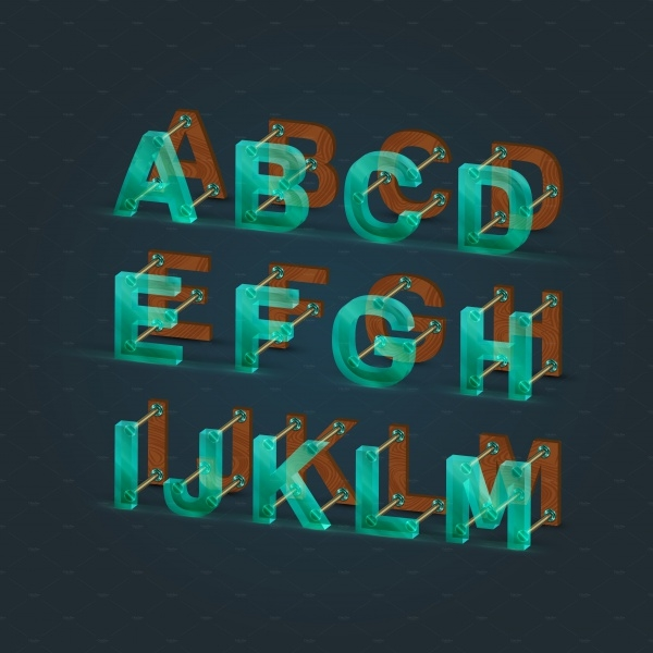Abstract Modern Typographic Font