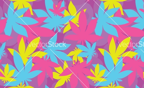 Abstract Narcotic Weed Pattern