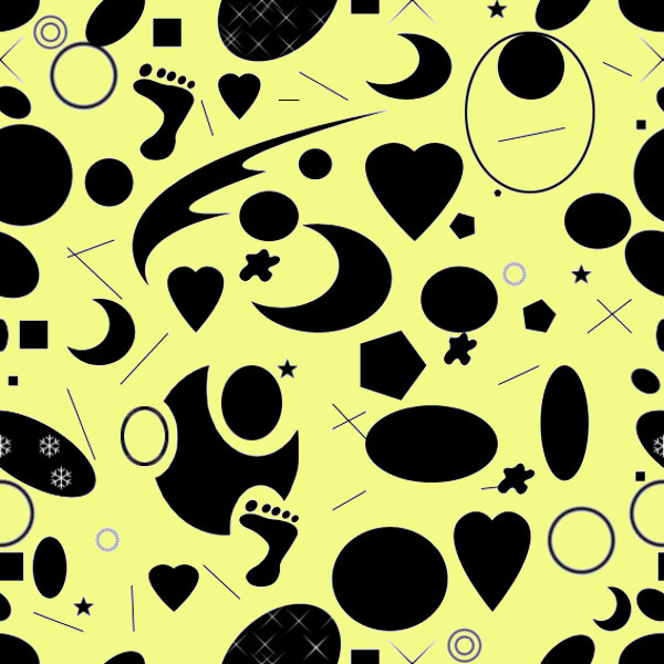 Abstract seamless cow pattern