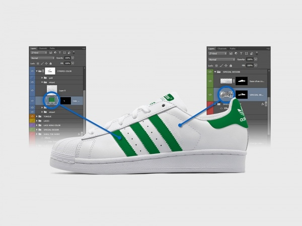 Adidas Superstar Shoes Mockup