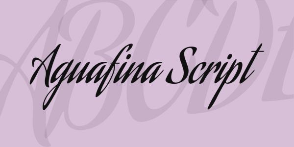 Aguafina Script Artistic Font