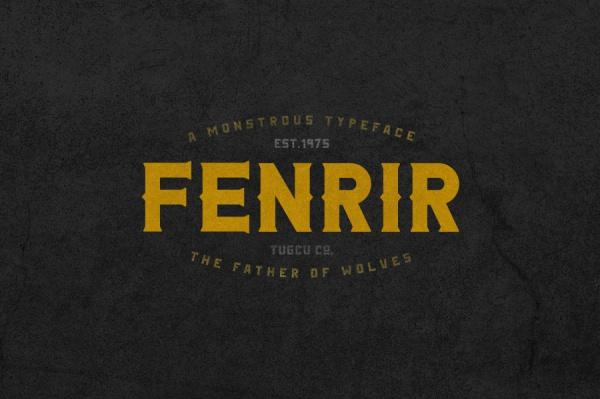 Amazing Fenrir Typeface Font