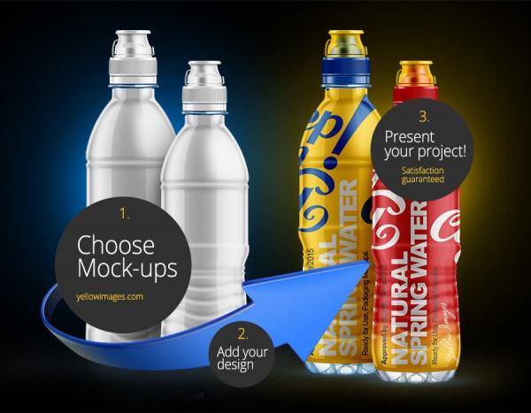 Amazing Water Bottle Mock-up