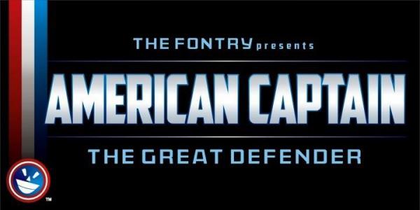 american captain font