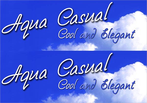Aqua Casual Font