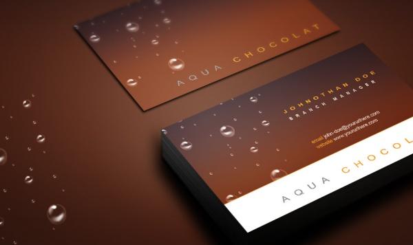 Aqua Chocolat Personal Business Card