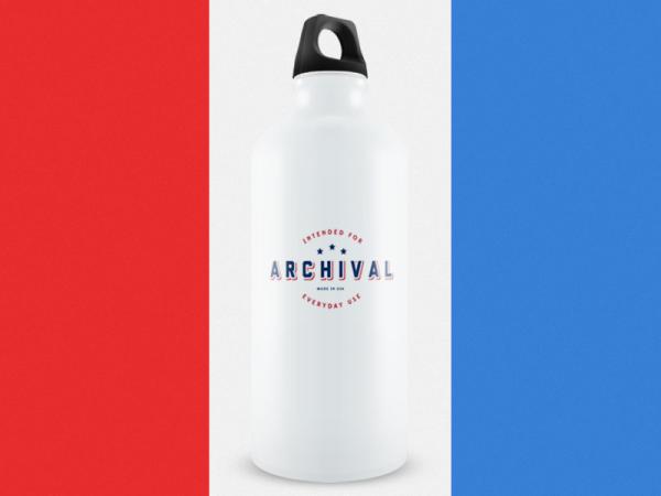 Archival Water Bottle Mockup