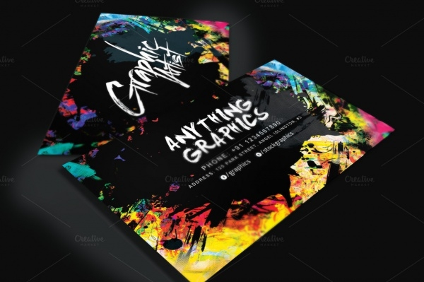 Artistic Business Card for Designers