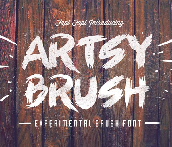 Artsy Brush Font