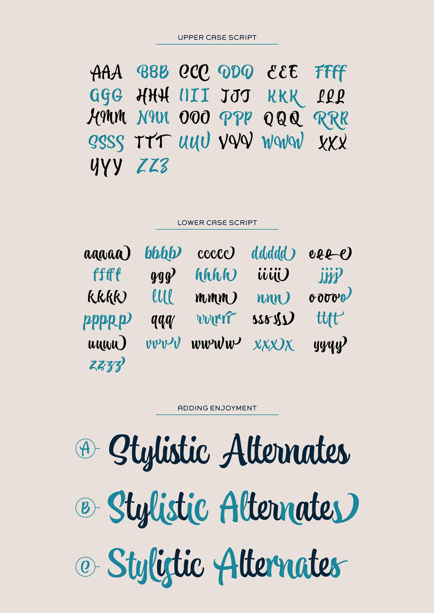 Atocha Artistic Typeface