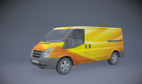 Automotive Branding Van Mockup