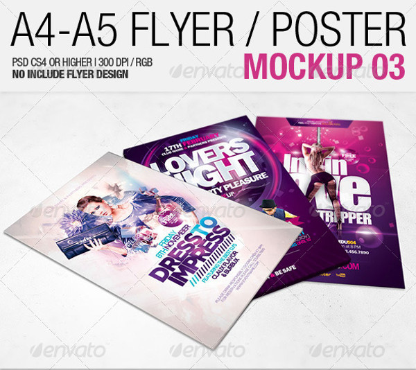 Awesome A4 – A5 Flyer Mockup