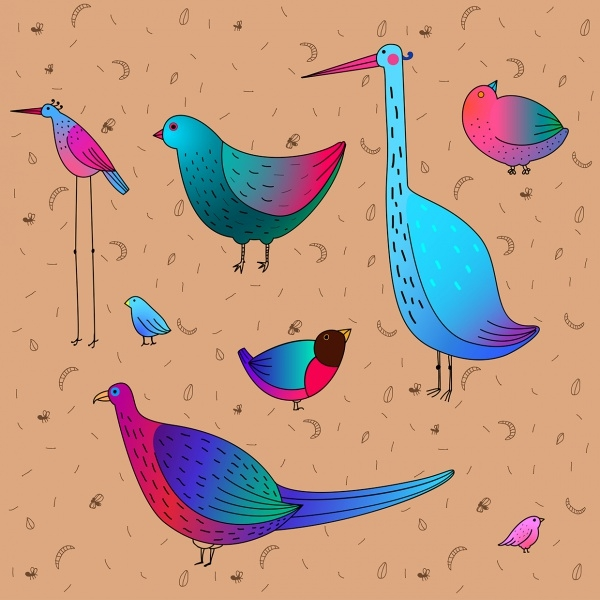 Awesome Funny Birds Vector