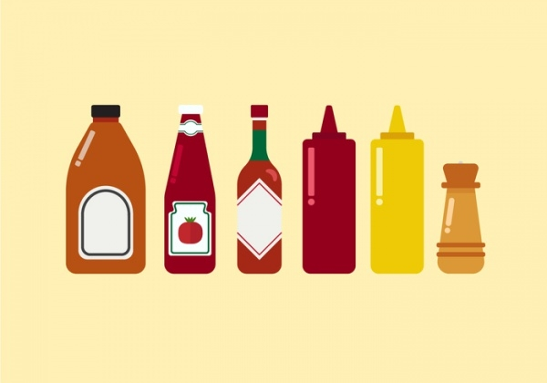 Awesome Ketchups Bottle Vector