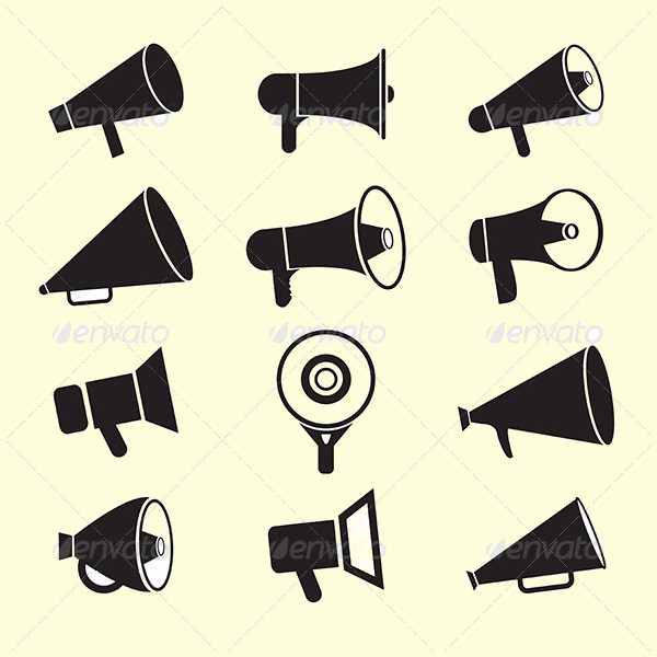 Awesome Megaphone Icons