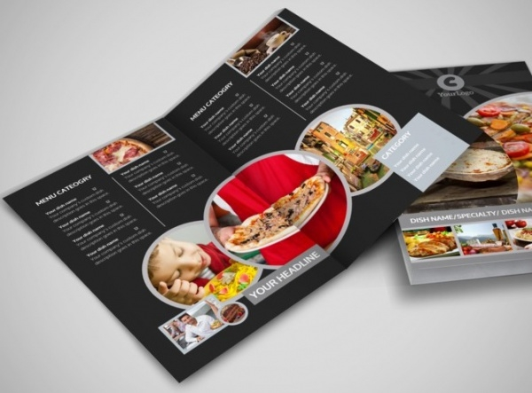 Awesome Pizza Restaurant Bi-Fold Brochure