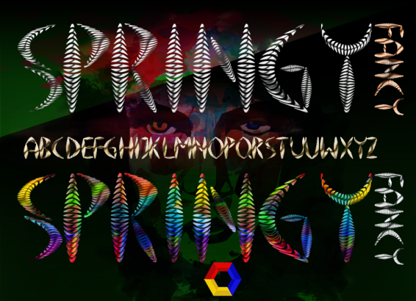 Awesome Springy Font