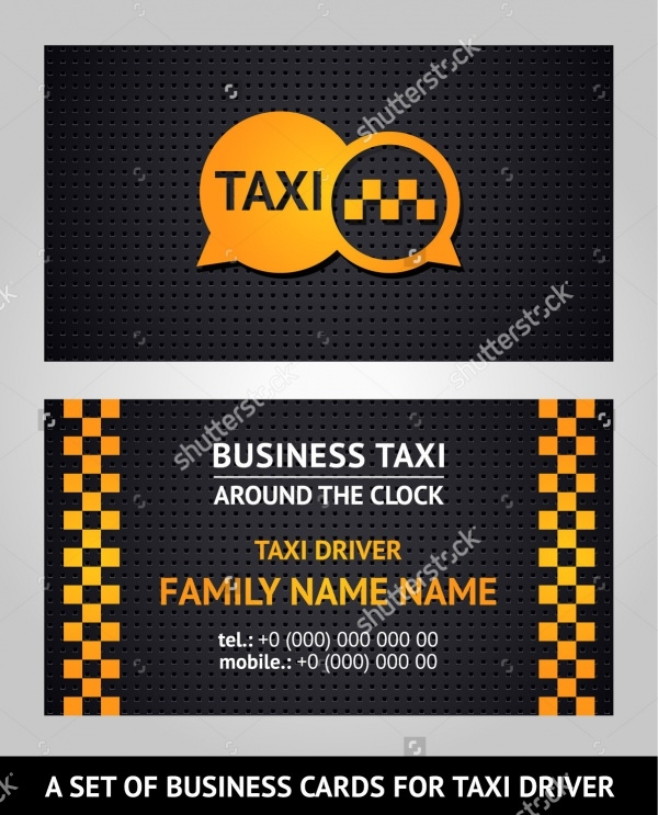 Awesome Taxi Business Card Design