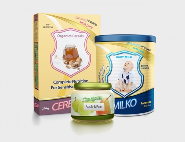 Baby Food Packaging Design Mock-Up