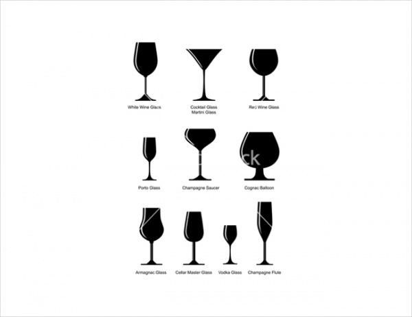Back Silhouette alcoholic glass vector