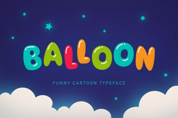 Balloon Typeface Font