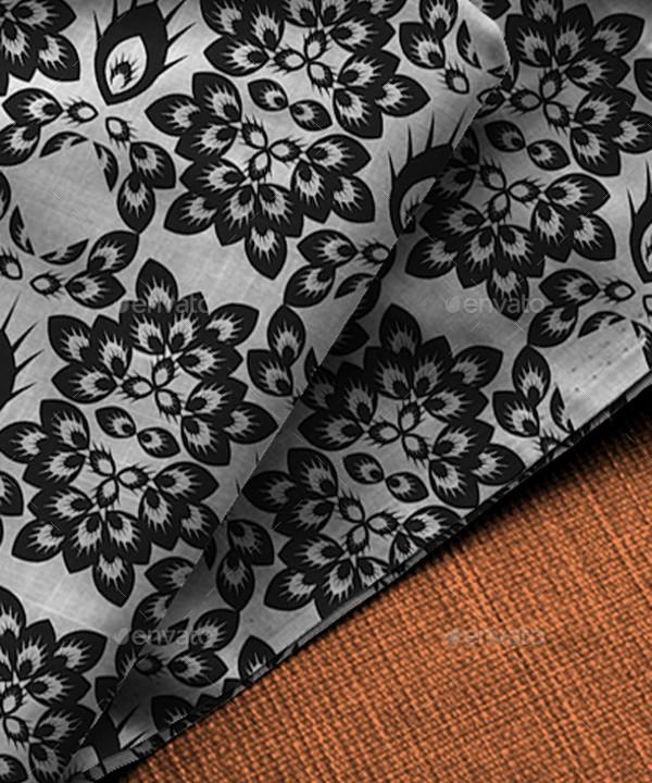 Batik Motifs Black and White Pattern