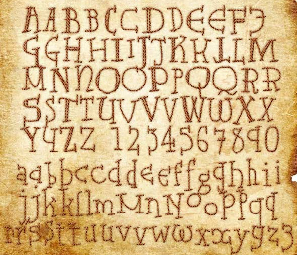 Bayeux Tapestry Type Font