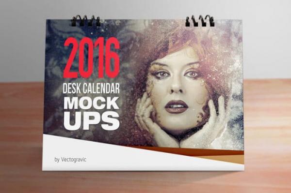 beautiful calendar mock up